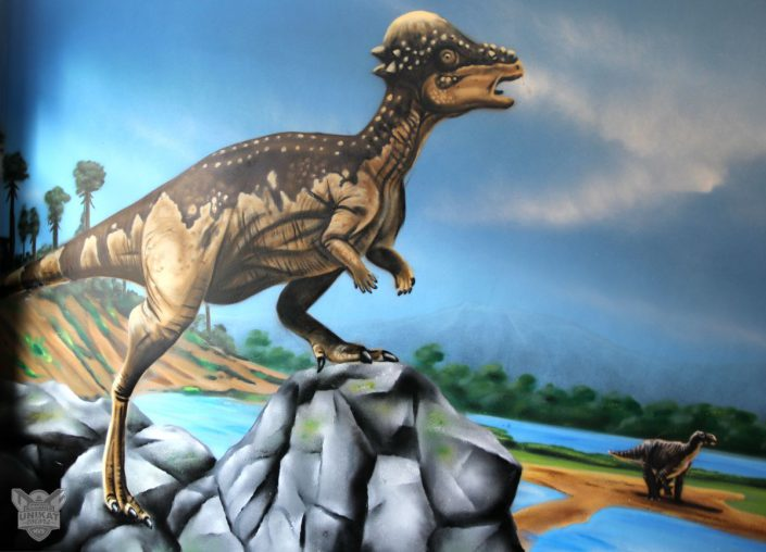 Dinosaurier auf Berg