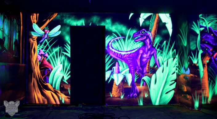 Dinosaurier Schwarzlicht