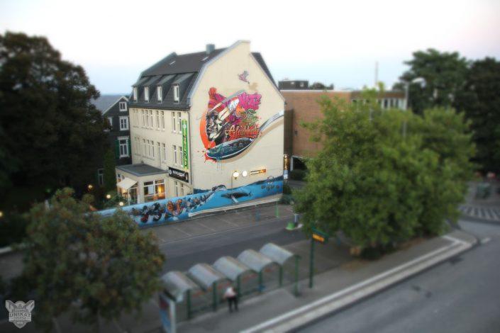 Graffitigestaltung auf Fassade