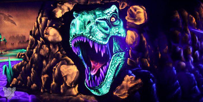 T-rex Kopf Graffiti