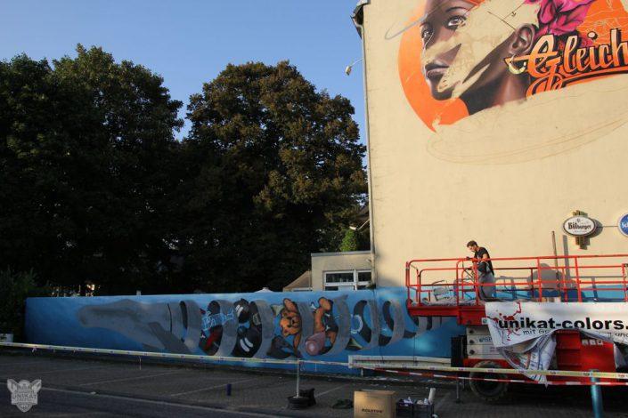 Graffitibild entsteht