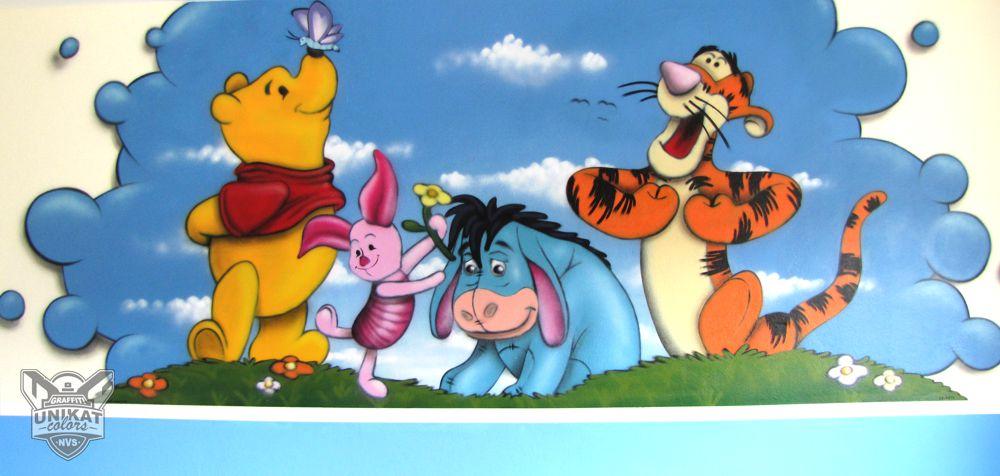 Kinderzimmer Winnie pooh - unikat-colors Graffitikünstler ...