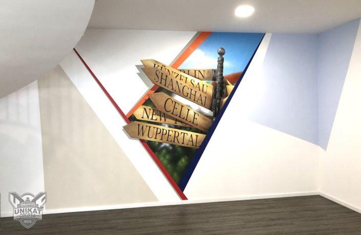 Graffiti Bürogebäude