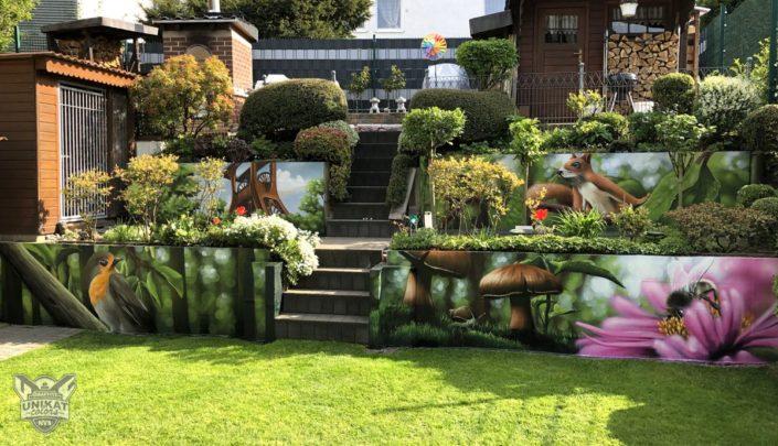 Graffiti im Garten