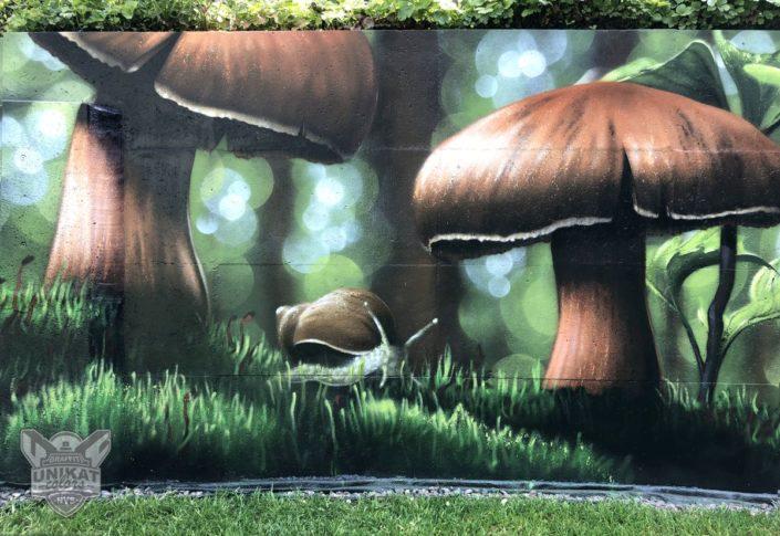 Graffiti Pilz