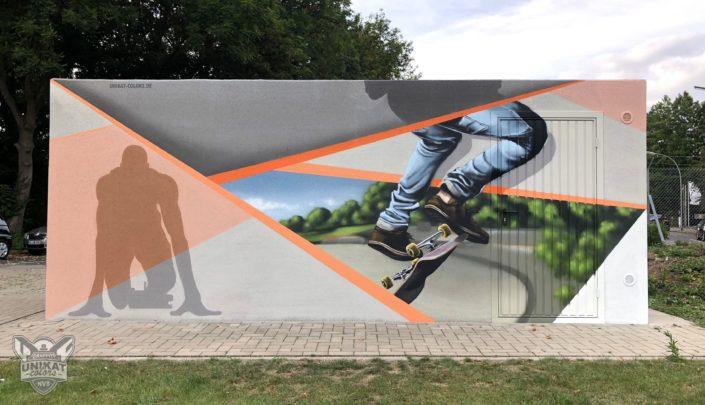 Graffitgestaltung Garagenseite