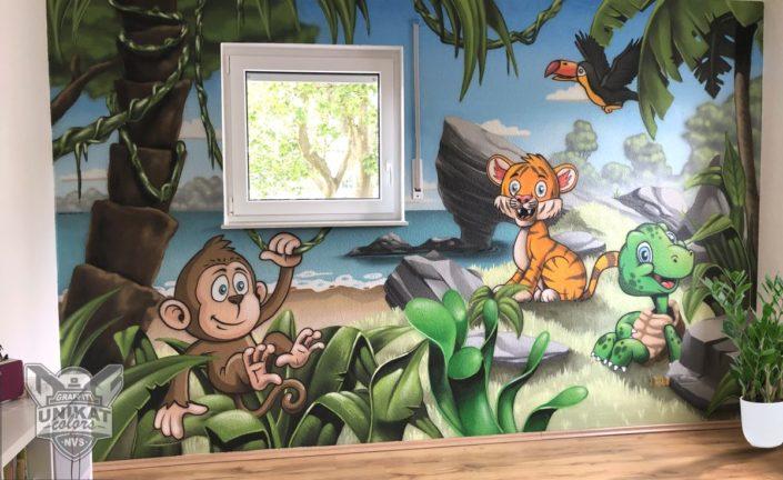 Wandgestaltung Kinderzimmer Wandmalerei