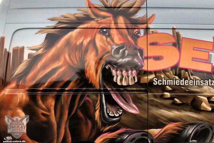 Graffiti Pferd funny