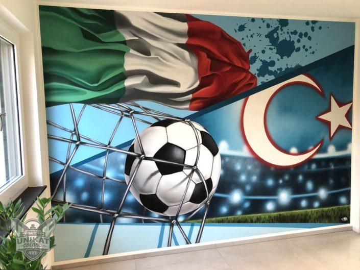 Graffiti Fußball Kinderzimmer