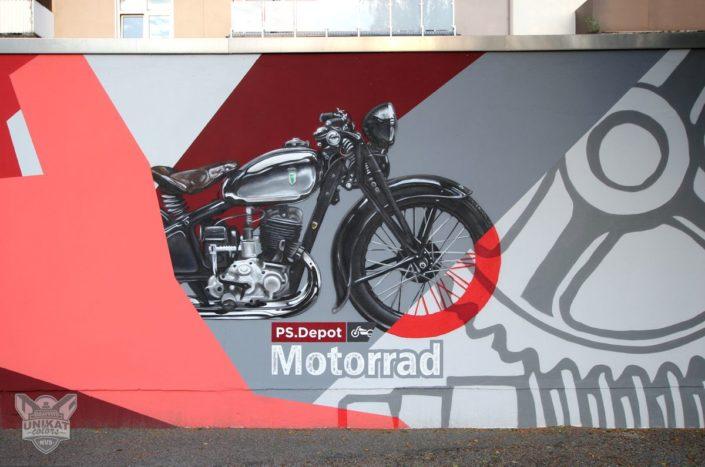 Graffiti Motorrad