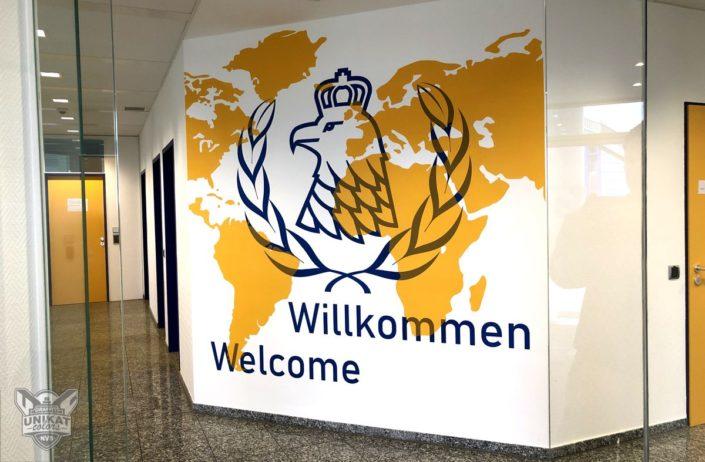 Logo Wandgestaltung