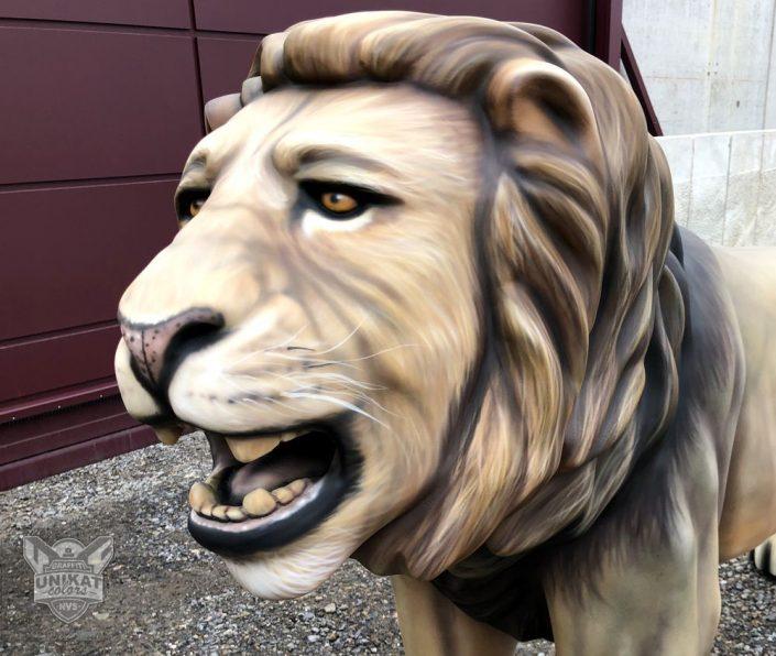 Bemalung Remscheider Löwe
