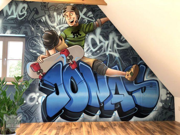 Graffiti Skater Kinderzimer